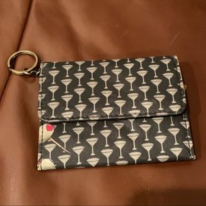 Nicole Miller Mini Wallet with Key ring